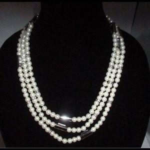 "Lia Sophia 74"" layering pearl necklace"